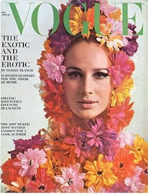 Vintage Vogue magazine covers - mylusciouslife.com - Vintage Vogue April 1965 - Brigitte Bauer.jpg
