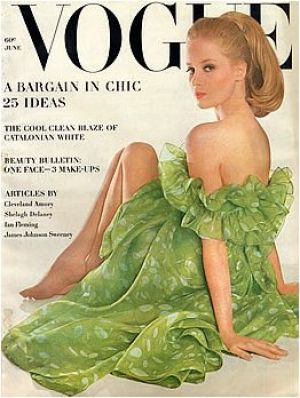 Vintage Vogue magazine covers - mylusciouslife.com - Vintage Vogue June 1963 - Celia Hammond.jpg