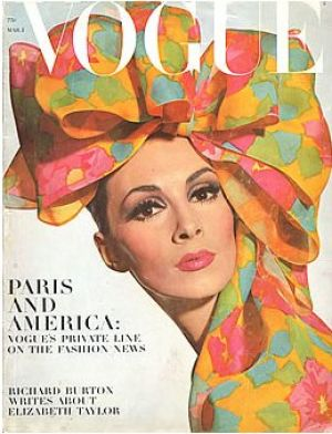 Vintage Vogue magazine covers - mylusciouslife.com - Vintage Vogue March 1965 - Wilhemina.jpg