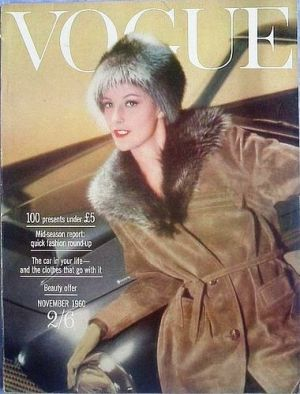 Vintage Vogue magazine covers - mylusciouslife.com - Vintage Vogue UK November 1960.jpg
