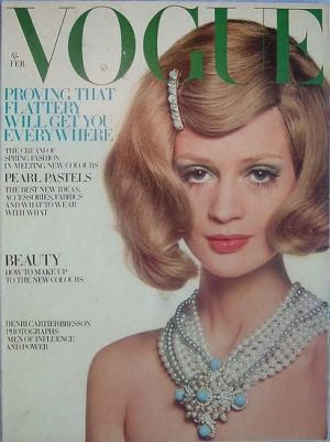 Vintage Vogue magazine covers - mylusciouslife.com - Vintage Vogue UK February 1968.jpg