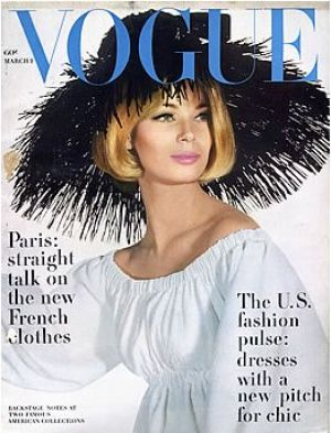 Vintage Vogue magazine covers - mylusciouslife.com - Vintage Vogue March 1963 - Anne de Zogherb.jpg