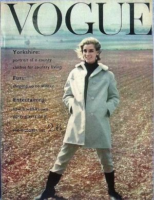 Vintage Vogue magazine covers - mylusciouslife.com - Vintage Vogue UK October 1960.jpg