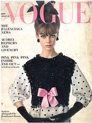 Vintage Vogue magazine covers - wah4mi0ae4yauslife.com - Vintage Vogue April 1963.jpg