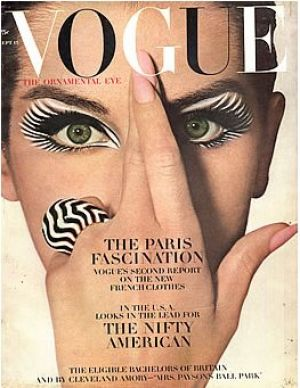 Vintage Vogue magazine covers - mylusciouslife.com - Vintage Vogue September 1964 - Veronica Hammel.jpg