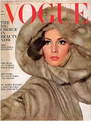 c83-Vintage Vogue magazine covers - mylusciouslife.com - Vintage Vogue October 1964 - Wilhemina.jpg