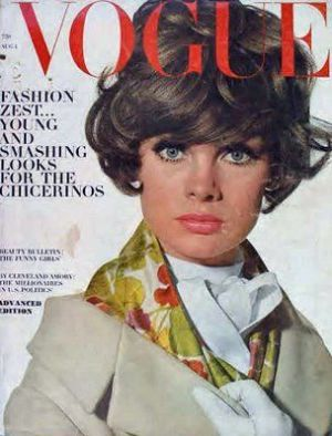 Vintage Vogue magazine covers - mylusciouslife.com - Vintage Vogue UK August 1964 - Jean Shrimpton.jpg