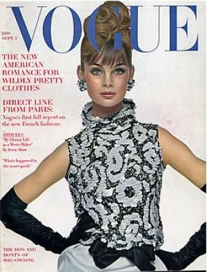 Vintage Vogue magazine covers - mylusciouslife.com - Vintage Vogue September 1963 - Jean Shrimpton.jpg