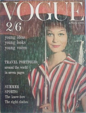 Vintage Vogue magazine covers - mylusciouslife.com - Vintage Vogue UK April 1960.jpg
