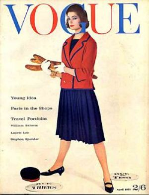 Vintage Vogue magazine covers - mylusciouslife.com - Vintage Vogue UK April 1961.jpg