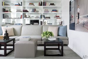 Library - A Manhattan Apartment decorated by Vicente Wolf interior design photos