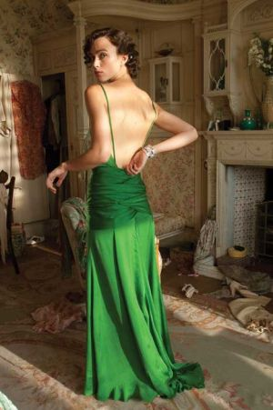 Keira in emerald green dress - Atonement.jpg