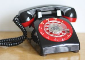 Old style phone pictures -  red black retro phone.jpg