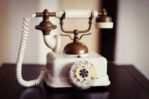 Vintage rotary phone - white antique phone.jpg