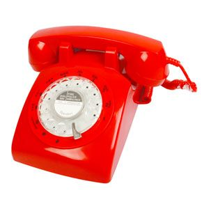 Vintage rotary phone pictures - red retro phone.jpg