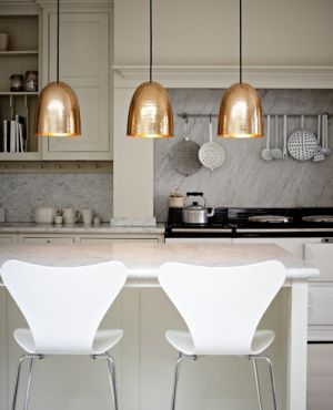 Ideas for a kitchen renovation pictures - Gold Pendant Trio via Elements of Style Blog.jpg