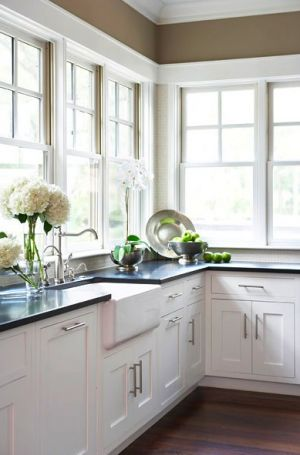 Pictures of kitchens - Windows in Kitchen via pinterest.jpg