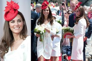 The Duchess re-wore the Reiss dress from her engagement portrait with Mario Testino to the Canada Day celebrations.jpg