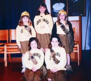 Kate Middleton before she was a princess - with her brownie troop as a young girl.jpg