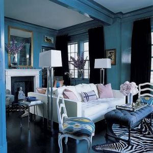 ... Glamorous Home   Elle Decor Modern Chinoiserie Living Room ... Part 64