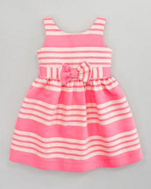 Girls Lilly Pulitzer True Glam Metallic-Striped Dress Pink.jpg
