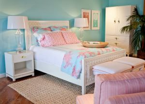 Lilly Pulitzer Home Aqua Bed - via myLusciousLife.com.jpg