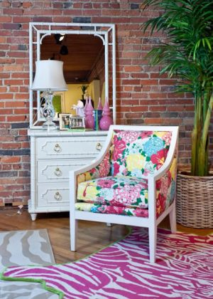 Lilly Pulitzer Home Chair - via myLusciousLife.com.jpg