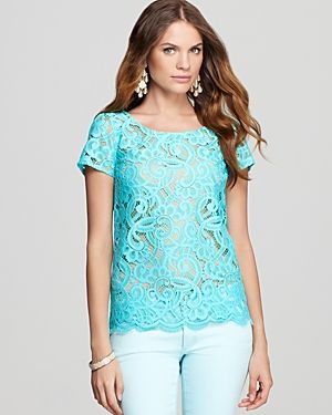 Lilly Pulitzer Poppy Lace Top - turquoise.jpg