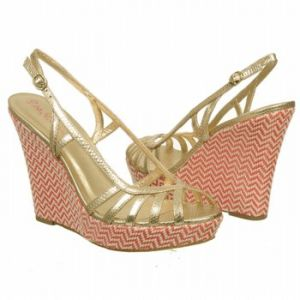 Lilly Pulitzer Sophie Strappy Wedge Shoes Gold Metallic Leather - Womens Shoes.jpg