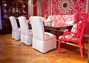 Lilly Pulizer Home Pink and White Dining Room.jpg