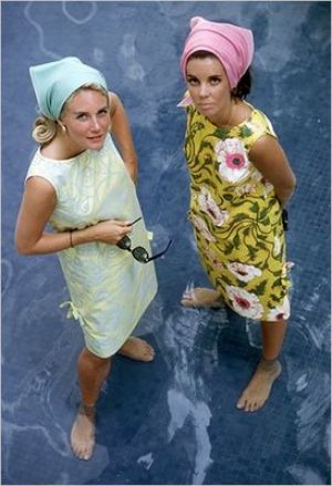 Wendy Vanderbilt and a friend wearing their Lilly shift dresses in 1964.jpg