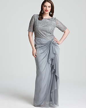 51f44a56cbbee WISHLIST  Tadashi Shoji plus-size cocktail and evening dresses