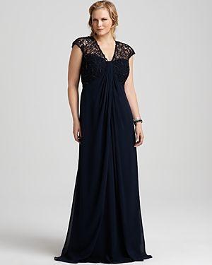 Trendy evening dresses for plus size