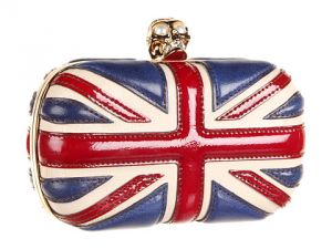 Alexander McQueen Union Jack Skull Clutch Ivory Ruby Red Navy.jpg