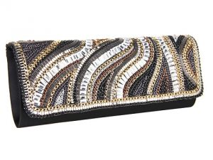 Jessica McClintock - Beaded Flap Clutch Black.jpg
