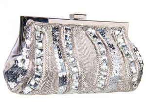 Jessica McClintock - Beaded Soft Clutch Silver.jpg