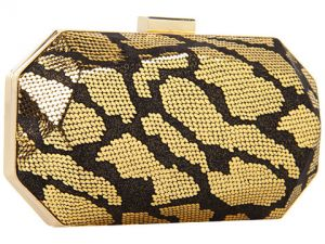 Jessica McClintock - Faceted Minaudiere Clutch Black Gold.jpg