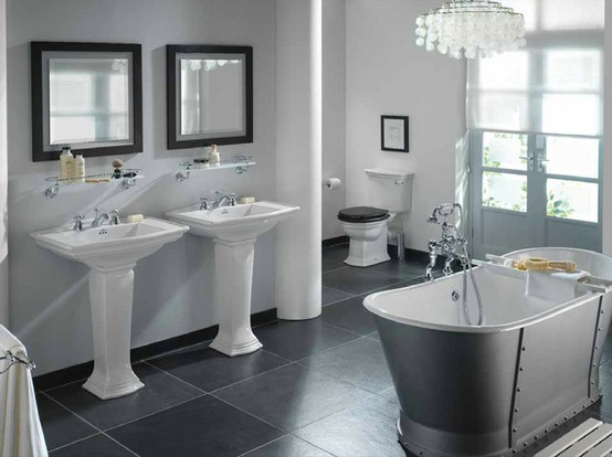 ... Ideas For Black And White Design   Traditional Black And White Bathrooms  ...