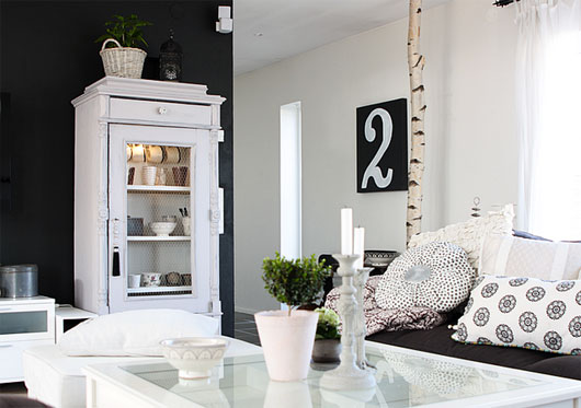 ... Black And White Swedish Apartment Interior Inspiration Via Luscious  Life ... Idea