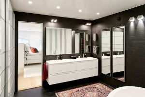 Ideas for black and white design - Bathroom - Black and White Contemporary Interiors Design Ideas.jpg