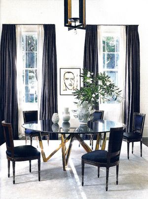 Stylish black and white decorating ideas - ledbetter-torres dining room.jpg