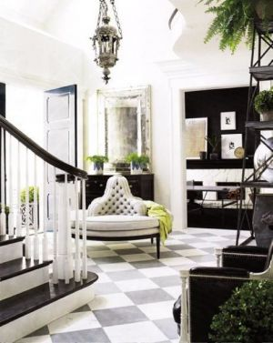 Stylish black and white decorating ideas - palatial palate via myLusciousLife.com.jpg