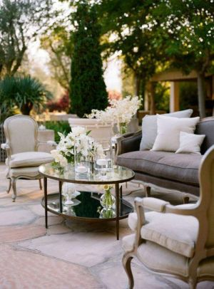 Stylish black and white decorating ideas - summer evening lounging.jpg