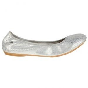 Hush Puppies Chaste Ballet Shoes - Silver Snake Suede - Womens Shoes.jpg