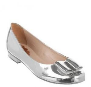The Mode Collective - Metallic Bow Flats - Party Shoes - Silver.jpg