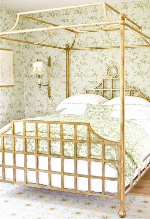 A colourful life green scene part 2 for Gold canopy bed frame