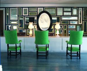 Green high back chaired in the lobby of the Viceroy Hotel in Santa Monica California.jpg