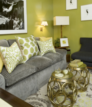 A colourful life green scene part 2 for Olive green and grey living room ideas