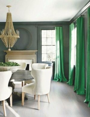 White Grey and Green dining room with chandelier - luscious style.jpg