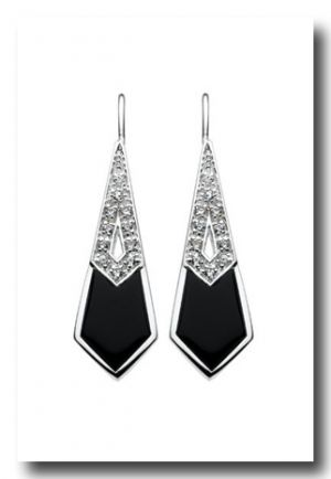 1920 s wedding - bride and wedding - black and silver art deco earrings.jpg